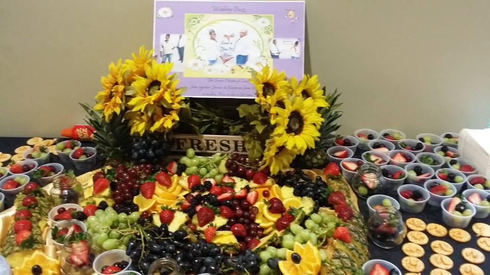 Bee & Honey Theme Wedding buffet