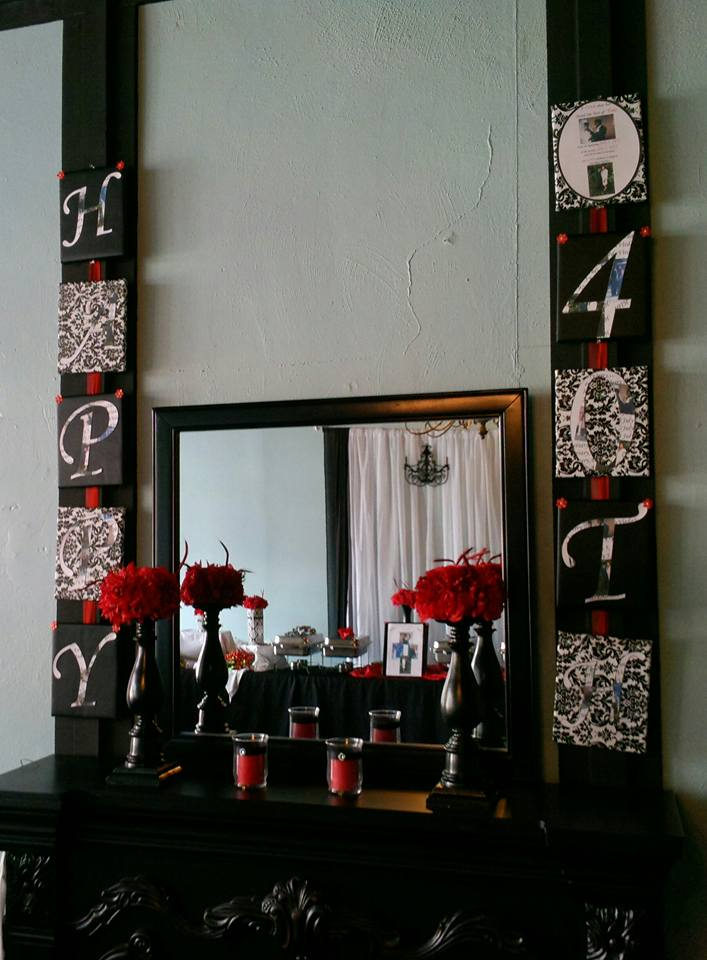 40th Anniversary custom decor