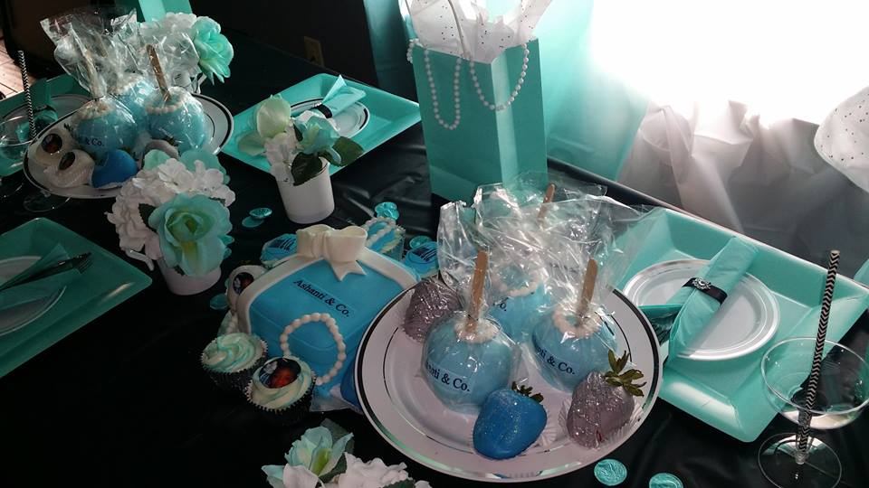 Tiffany & Co. In Home birthday setup