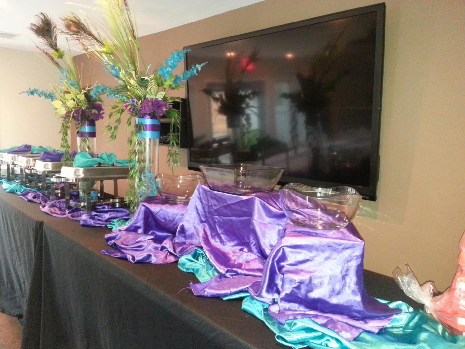 Peacock Wedding buffet design