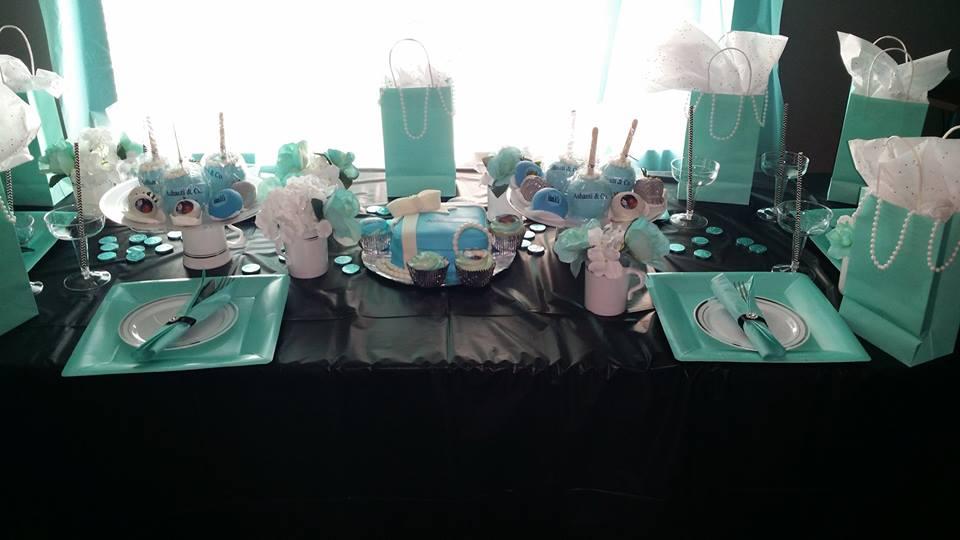 Tiffany & Co. theme birthday party