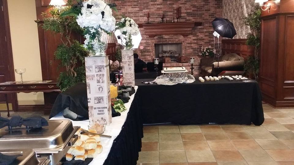 Reunion Buffet Setup