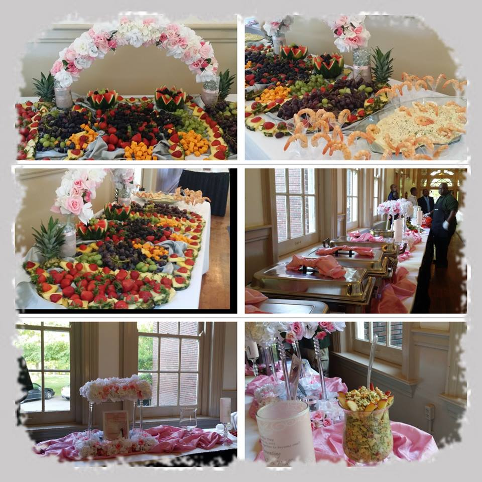 Pink & White Wedding buffet