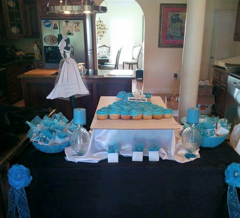Cake setup with custom sign
