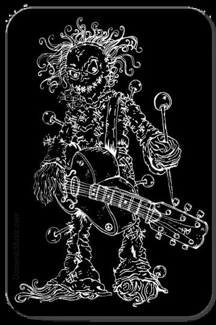'Voodoo Music Man' Vinyl Sticker