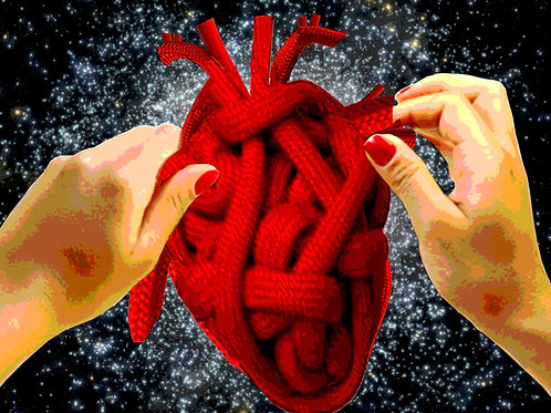 "HEART KNOT (PRINT) 11""x14"""