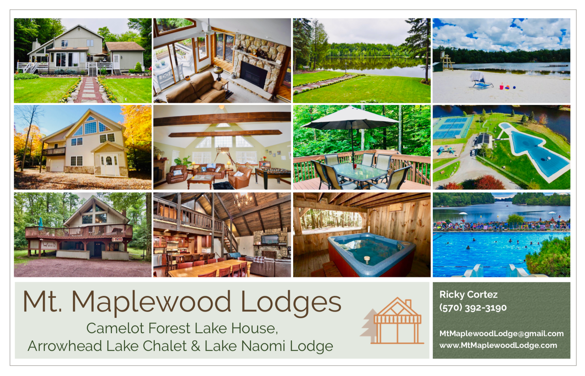 Mt. Maplewood Lodge, Lake House & Chalet, Vacation Rental ...