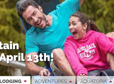 Mt. Coaster & Adventure Park Opens in April