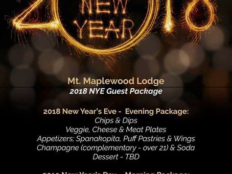 Book New Year's Eve in the Poconos NOW!