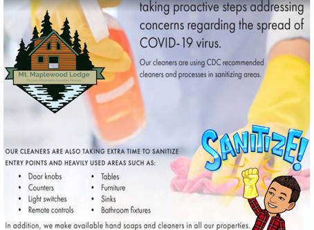 The Pocono Promise - COVID-19 Cleaning Protocol