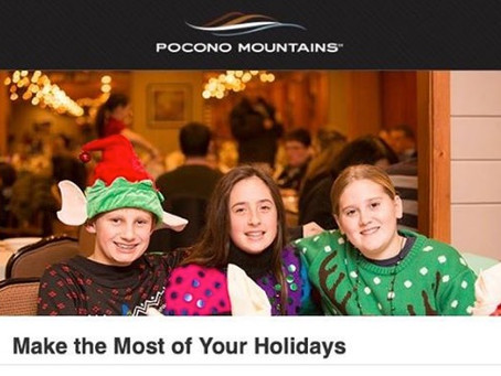 Plan your Poconos Holiday Excursions now!
