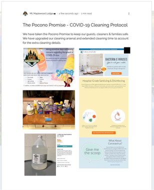 The Pocono Promise - COVID-19 Cleaning P