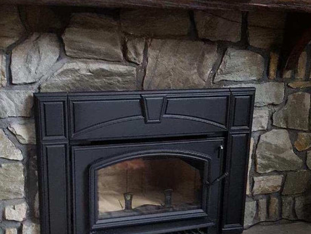 Wood Burning Fireplace - Refaced!