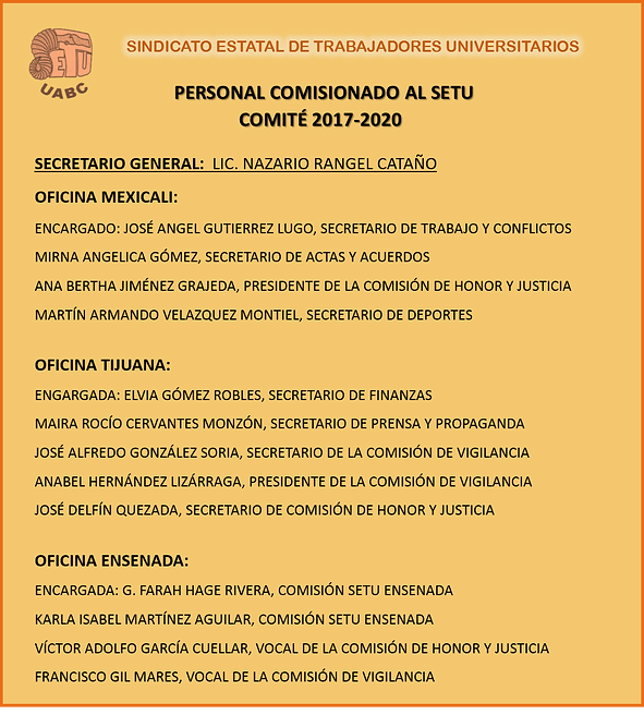 NUEVOS COMISIONADOS AL SETU FEB. 2019.pn