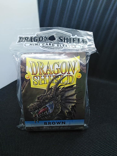 Arcane Timen Dragon shield: Mini size sleeves Brown(50pk)