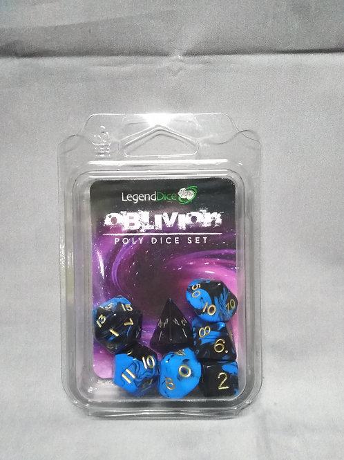 Legend Dice : Oblivion Marble Blue+Black