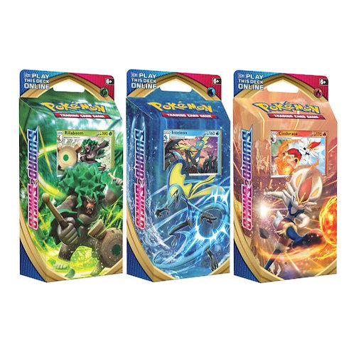 SET of 3 Pokemon Sword & Shield Theme Decks