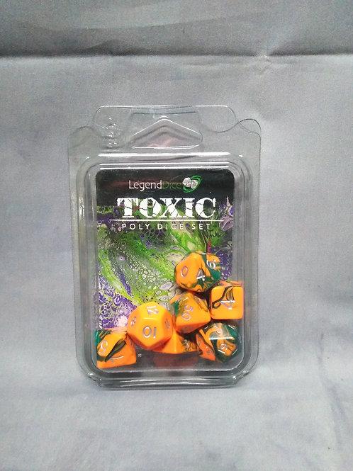 Legend Dice : Toxic Set Bright Orange + Green