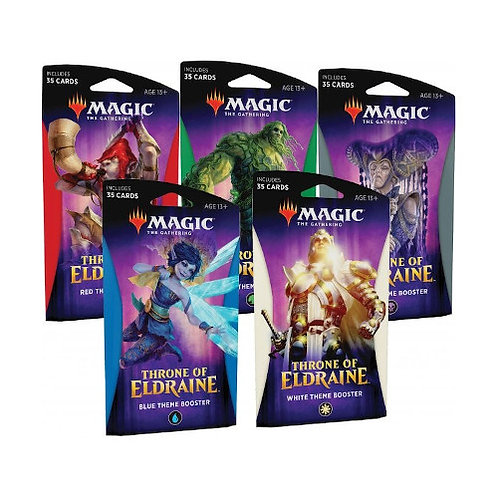 Magic The Gathering : Thrones of Eldraine Themed Booster SET of 5
