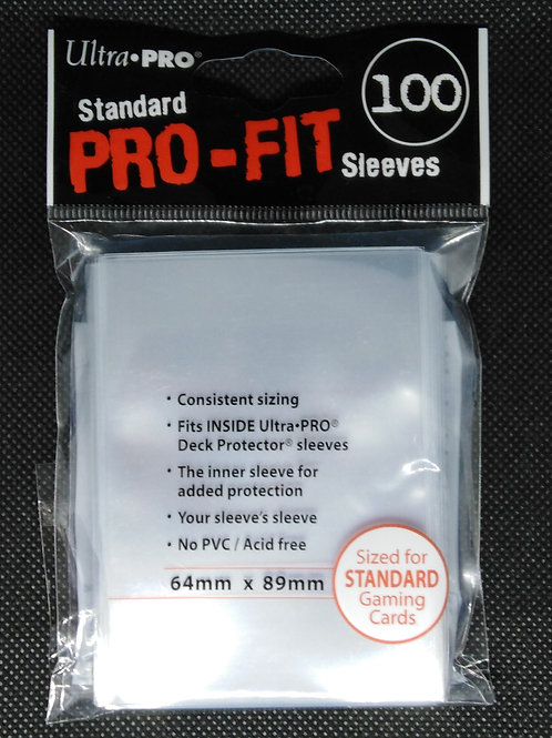 Ultra Pro Fit- Standard Clear Sleeves