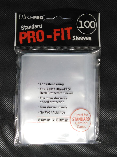 Ultra Pro: Standard Size transparent Card Sleeves 100pk