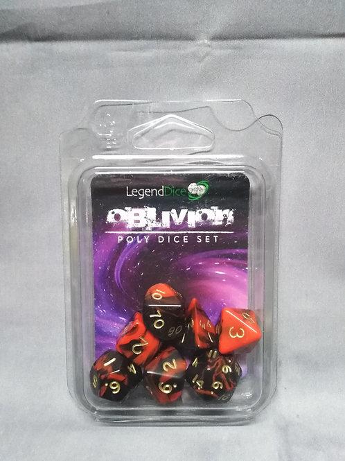 Legend Dice : oblivion Marble Red + black