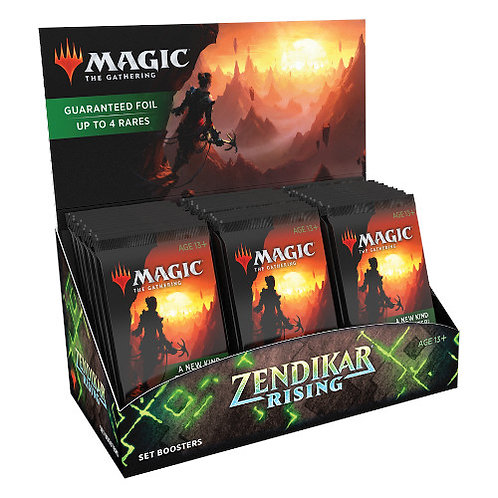 Magic The Gathering : Zendikar Rising Set display boosters