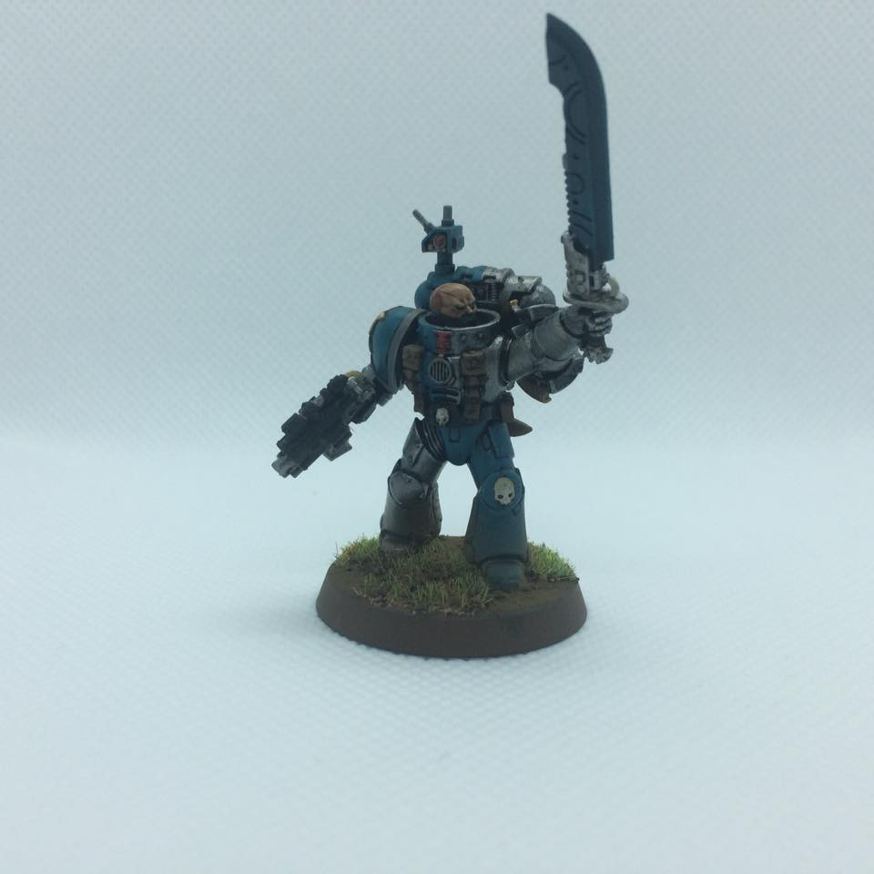 death watch sergent with Xenos blade