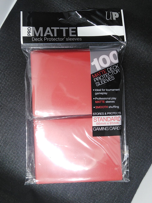 Ultra-Pro Standard Matte sleeves 100 pack-RED