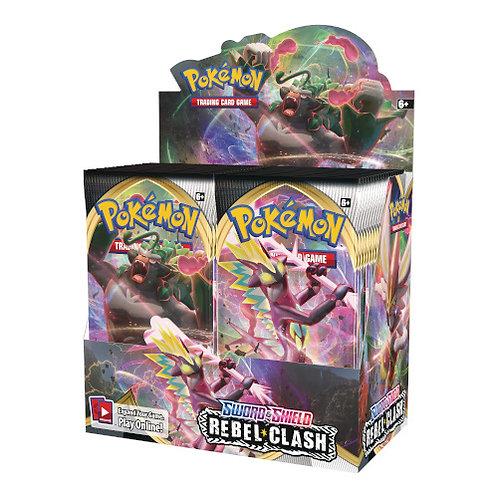Pokémon Sword and Shield Rebel Clash Booster Display (36pk Version)
