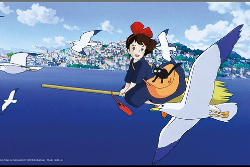 Kiki's Delivery Service Wooden Wall Art Movie Poster