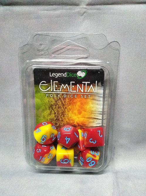 Legend Dice : Elemental Set Yellow & Red
