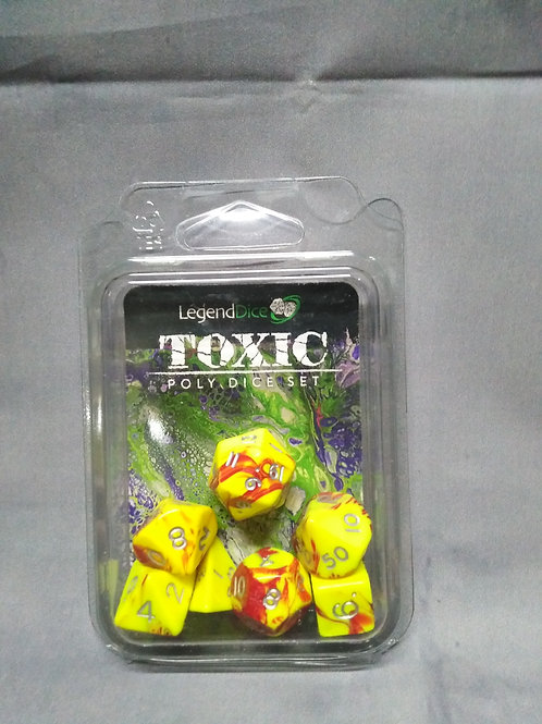 Legend Dice : Toxic set Marble Yellow & Red