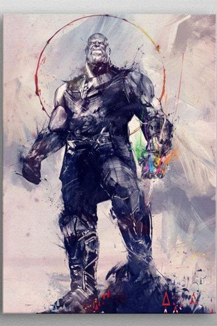 Marvel Metal Poster Infinity War Infinity Gauntlet 32 x 45 cm