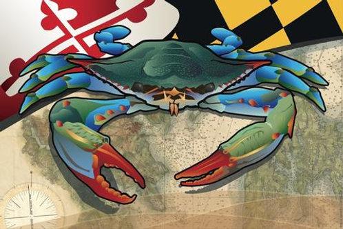 Maryland Red Crab Art Print