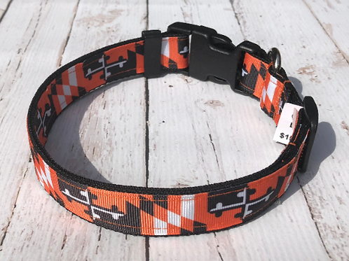 Maryland Flag Orioles Dog Collar