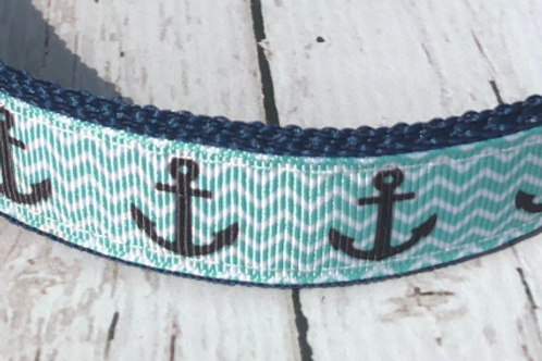 BLUE CHEVRON ANCHOR DOG LEASHES!