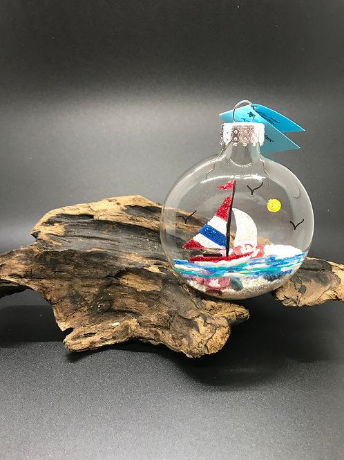 Sailboat Disc with Shells