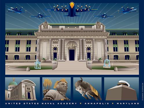 US Naval Academy Monuments Annapolis Art Print ~ Citizen Pride