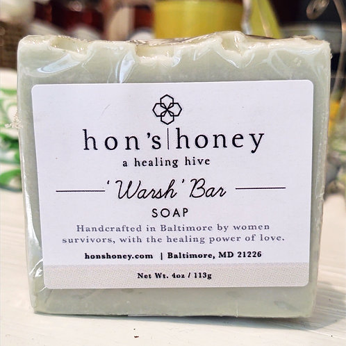 'Warsh' Bar soap ~ Hon's Honey