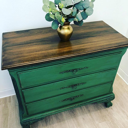Green Dresser ~ Old Things New