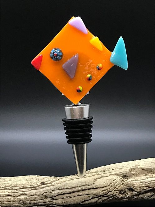 Fused Glass Wine Stopper