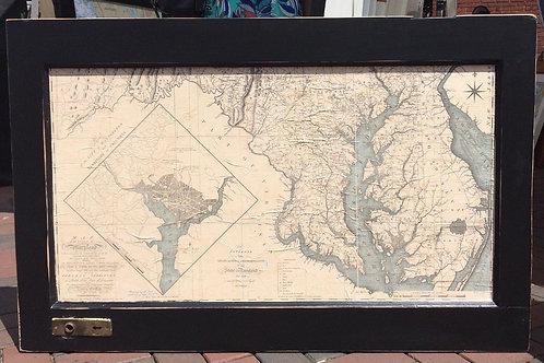 1794 Nautical Chart Chesapeake Bay with Washington DC