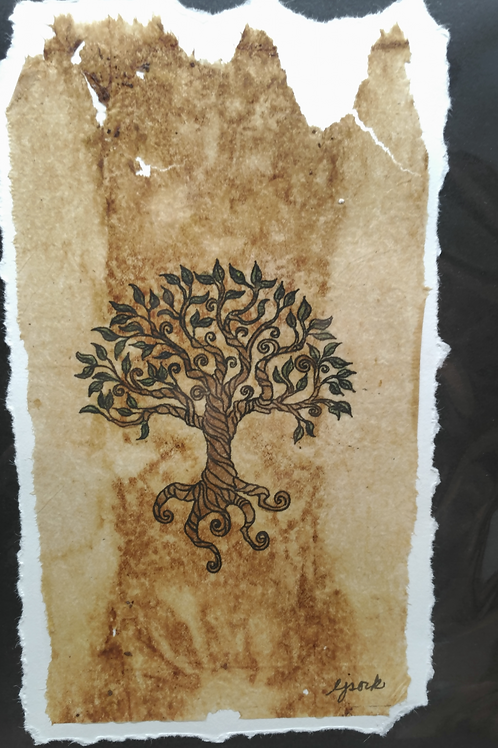 Tea Bag Art ~ Tree of Life ~ Liz Sork Designs
