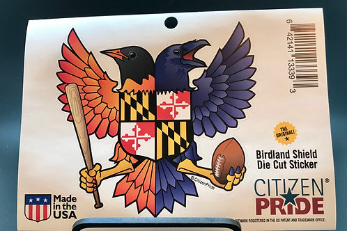 Birdland Shield Sticker
