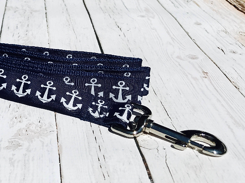 NAVY ANCHOR DOG LEASHES!