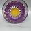 Thumbnail: Wine Glass / Water Goblet Purple Gerber Daisy