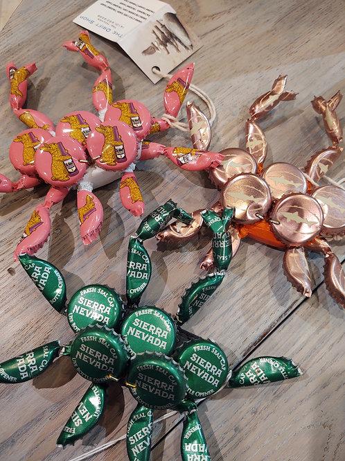 Bottle Cap Mini Crabs with Magnets ~ Drift Shop