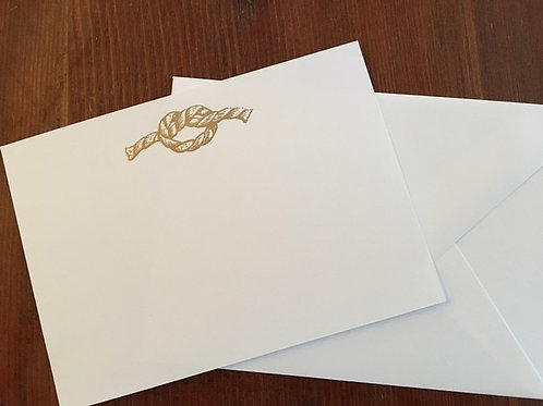 Raised Gold Knot Notecards set of 10