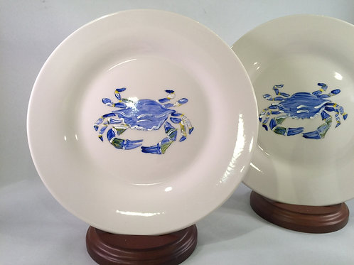 Crab Plates (set of 4)